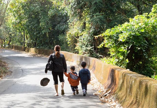 procházka s mamkou